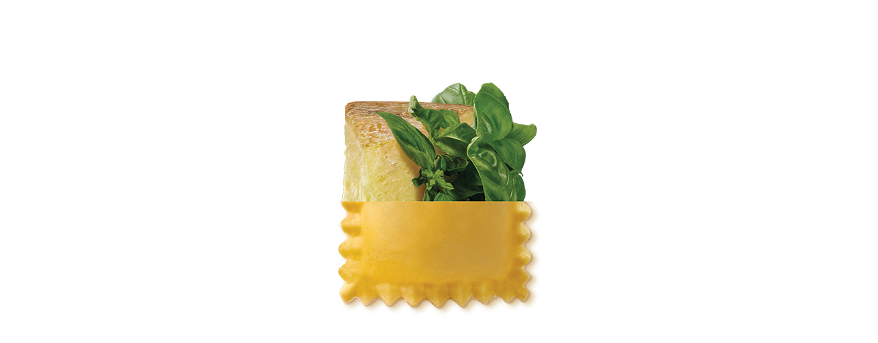 Frischpasta gefüllt   Ravioli basilico e pecorino