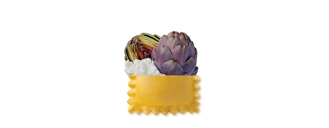 Frischpasta gefüllt   Ravioli artischocken ai carciofi