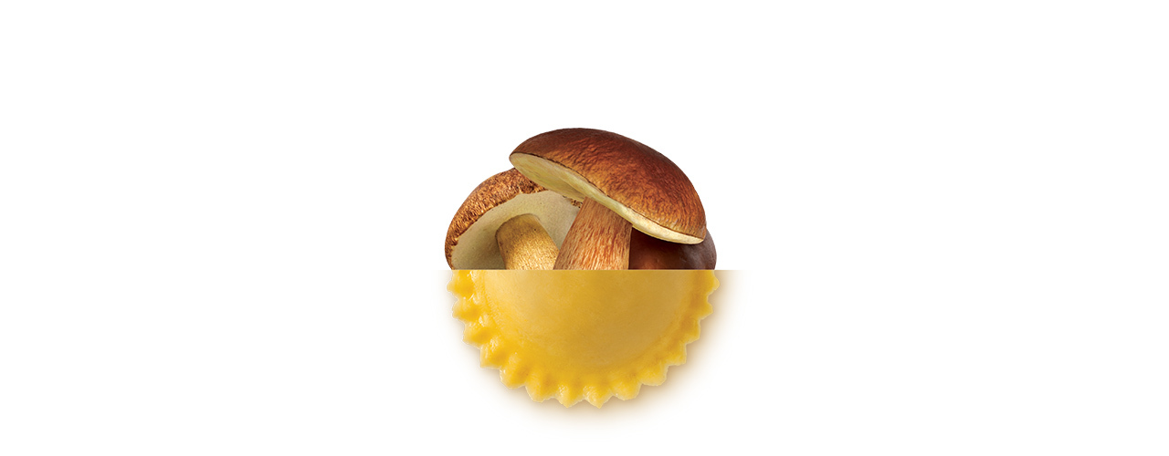 Färsk Pasta Fylld   Girasoli Steinpilz funghi porcini