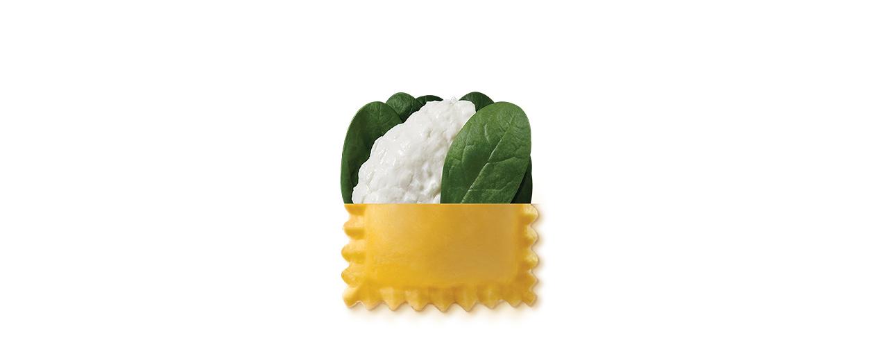 Färsk Pasta Fylld   Ravioli ricotta e spinaci