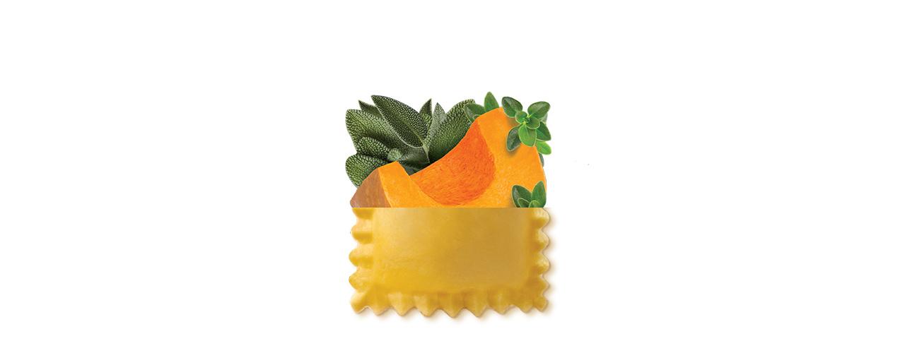 Pasta Fresca   Ravioli di zucca al timo e salvia
