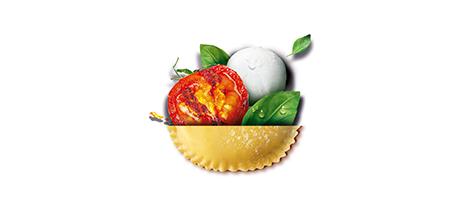 Tomates Mozzarella au lait de bufflonne et Basilic