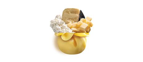 Saccottini ai tre formaggi