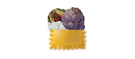 Ravioli artischocken ai carciofi