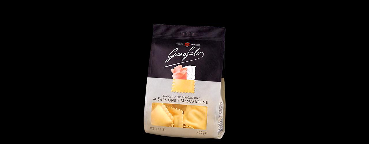 Färsk Pasta Fylld   Ravioli al salmone e mascarpone
